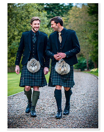 Grooms shopping guide tie the knot scotland for Scottish wedding guest dress