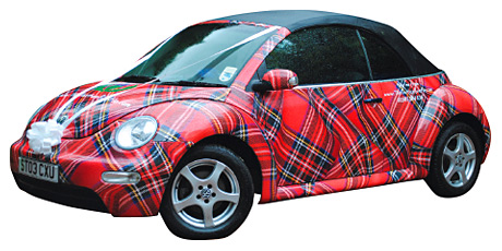 The Tartan Beetle Company's range of classic VW Beetles and camper vans would make a fun addition to your celebration that will definitely raise smiles among guests