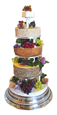 A cheese cake makes a delicious alternative to traditional tiered sponges. This one is from Edinburgh deli Valvona & Crolla