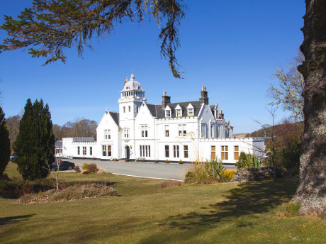 The banks of the River Snizort, at Skeabost Country House Hotel on the Isle of Skye