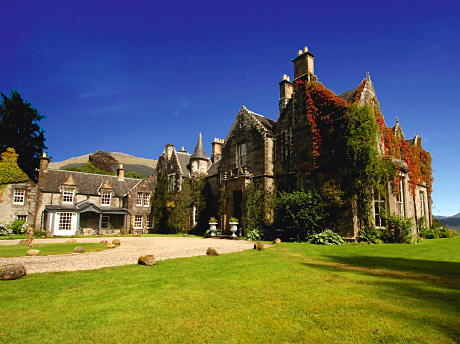 Voted Romantic Hotel of the Year in 2012, Ardanaiseig nestles in 240 acres of scenic parkland near Taynuilt in Argyll
