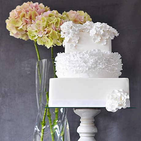 A hydrangea-inspired creation by The Guilty Pleasures Cake Company