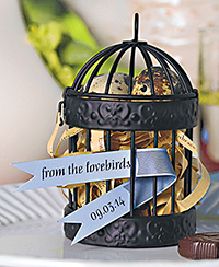 Miniature classic round decorative birdcages, from £18.99 for four, Confetti