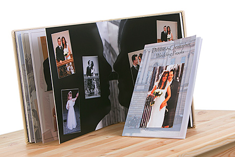 A soft-back proof book by PB Photography