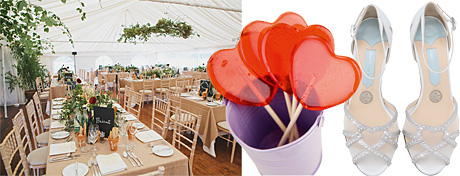 Finesse Marquees. Heart lollipops, Three Blonde Bears. Alaina sandals, Charlotte Mills
