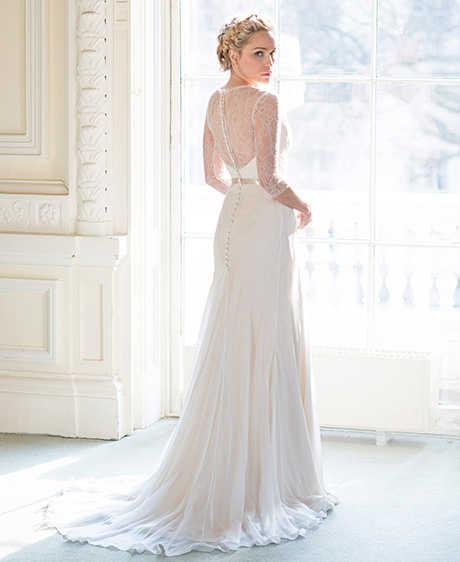 Peony from the Secret Garden collection. Stockists include Alison Kirk Bridal and Pan Pan Bridal