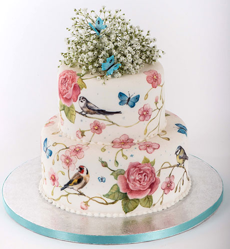 1. Hand-painted Wild Birds cake, from a selection at McLean & Carr www.mcleanandcarr.com