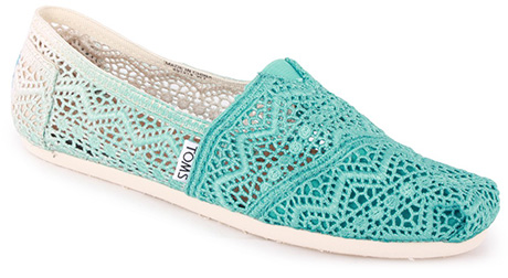 5. Baltic Dip Dye Crochet slip ons, £41.99, Toms, available from Office www.office.co.uk