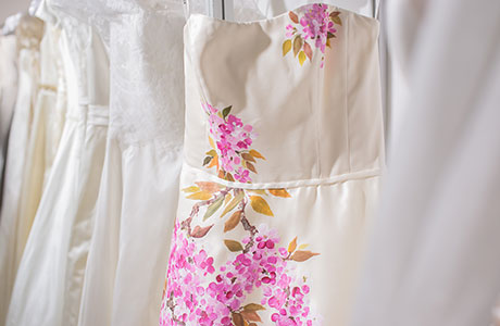 7. Stunning gown with hand-painted blossom, POA, Alan Hannah www.alanhannah.co.uk