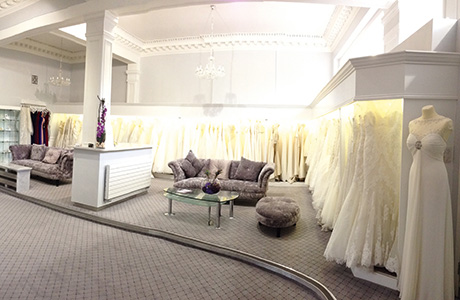 Below: The interior of the spacious boutique on the capital's Brandon Terrace