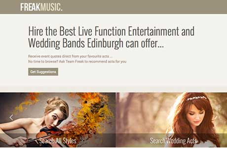 Freak Music, wedding entertainment, Scotland,