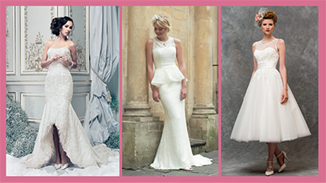 Left to right: Rodeo Drive by Ian Stuart Bride; Maisie by So Sassi; Style W136 by True Bride