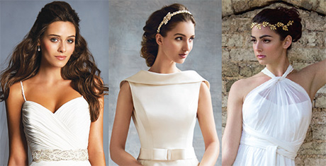 Left to right: Style 2494 by Alfred Angelo, Evita by Alan Hannah and Iona by Johanna Hehir