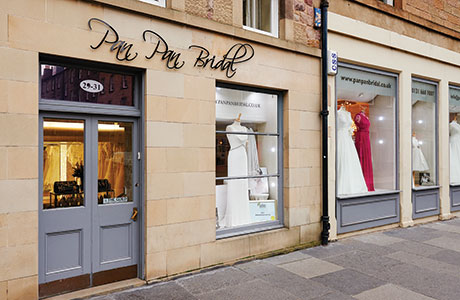 Pan Pan Bridal's boutique at Buccleuch Street in Edinburgh