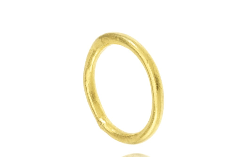 22ct yellow gold wedding band, Pippa Small