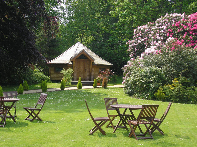 The gardens at Enterkine Country House – complete with a woodland lodge that newlyweds can spend their first night in – are justly famed as a fine setting for a wedding