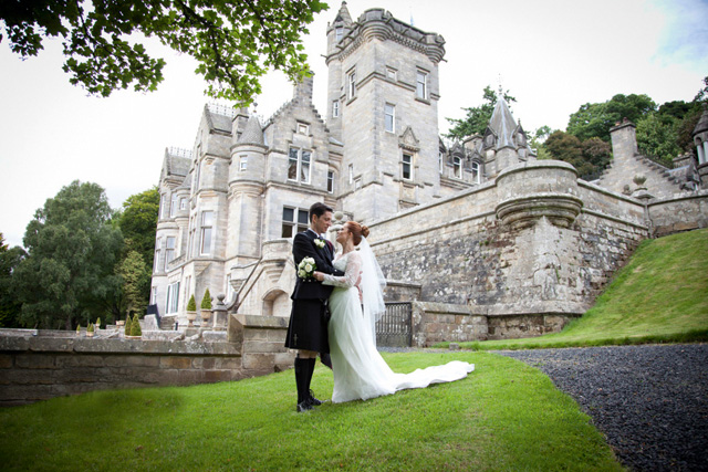 Kinnettles, just to the north of Dundee, has the look of a fairytale castle about its turrets and gardens – ideal for a knight in shining armour and his beloved!