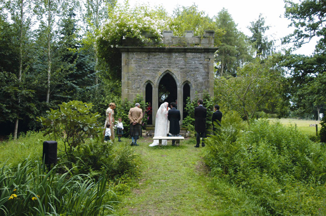 The magnificent grounds at Errol Park lend themselves to an open-air ceremony.