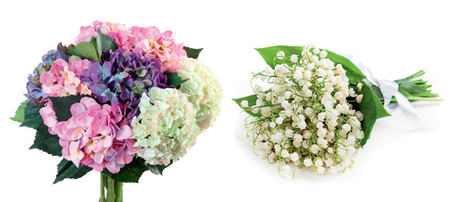 Hydrangea and Lily of the valley