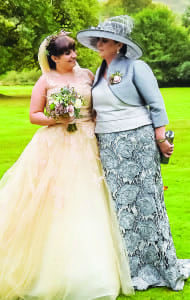 Elaine and her daughter Lauren on the big day