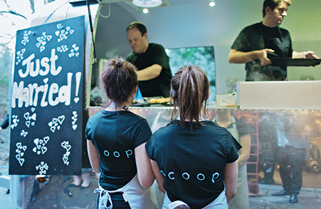 Street food has gone luxe with Scoop's silver bullet – forget grabbing a hotdog and sliding onto a bench, the team can serve up a mouth-watering selection of scran for your celebration