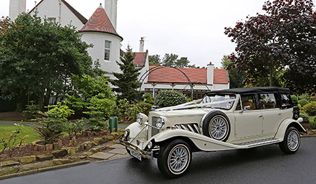 A Long Beauford Tourer from KA Limo Hire will whisk you effortlessly to the party (ayrshireweddingcars.co.uk)