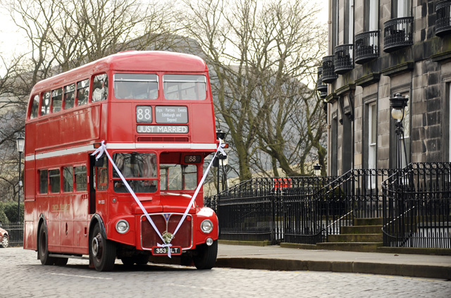 Who said practical couldn't be fun? The Big Red Bus will get your guests to the church on time and give them a sightseeing tour en route