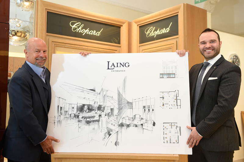 Michael Laing with son Richard Laing show off the proposed new store layouts