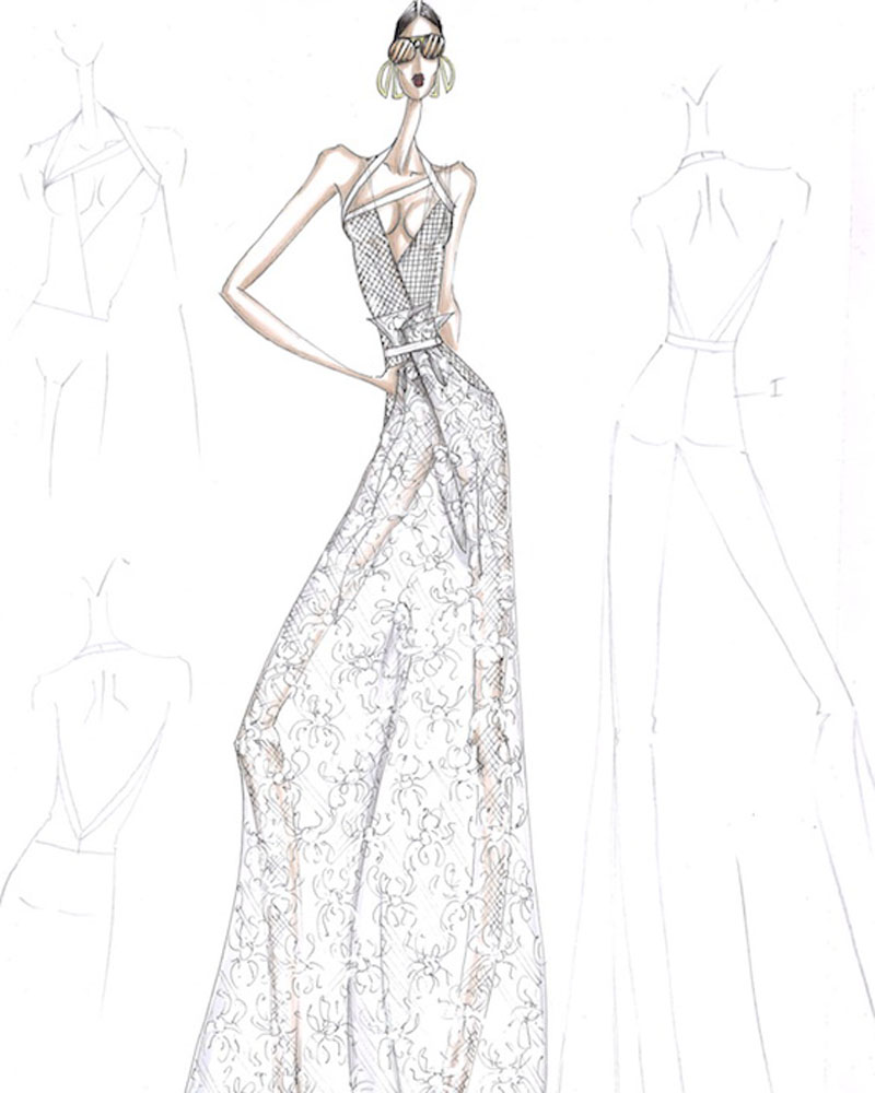 So fancy: designers sketch couture wedding gowns for Iggy Azalea ...