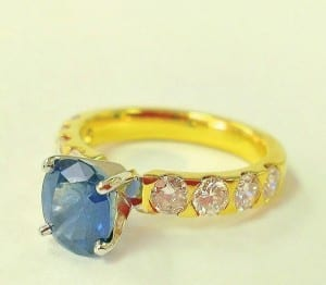 Sapphire and diamond ring, POA, James Brown & Partners