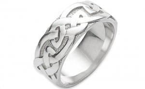 Sterling silver Celtic knotwork ring, £93, Celtic Art