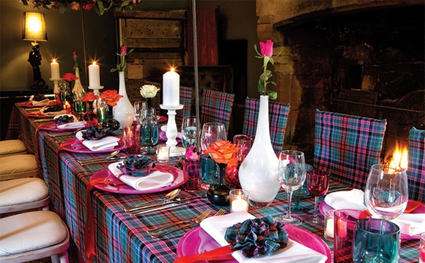 Four ways to wow with tartan décor on the big day