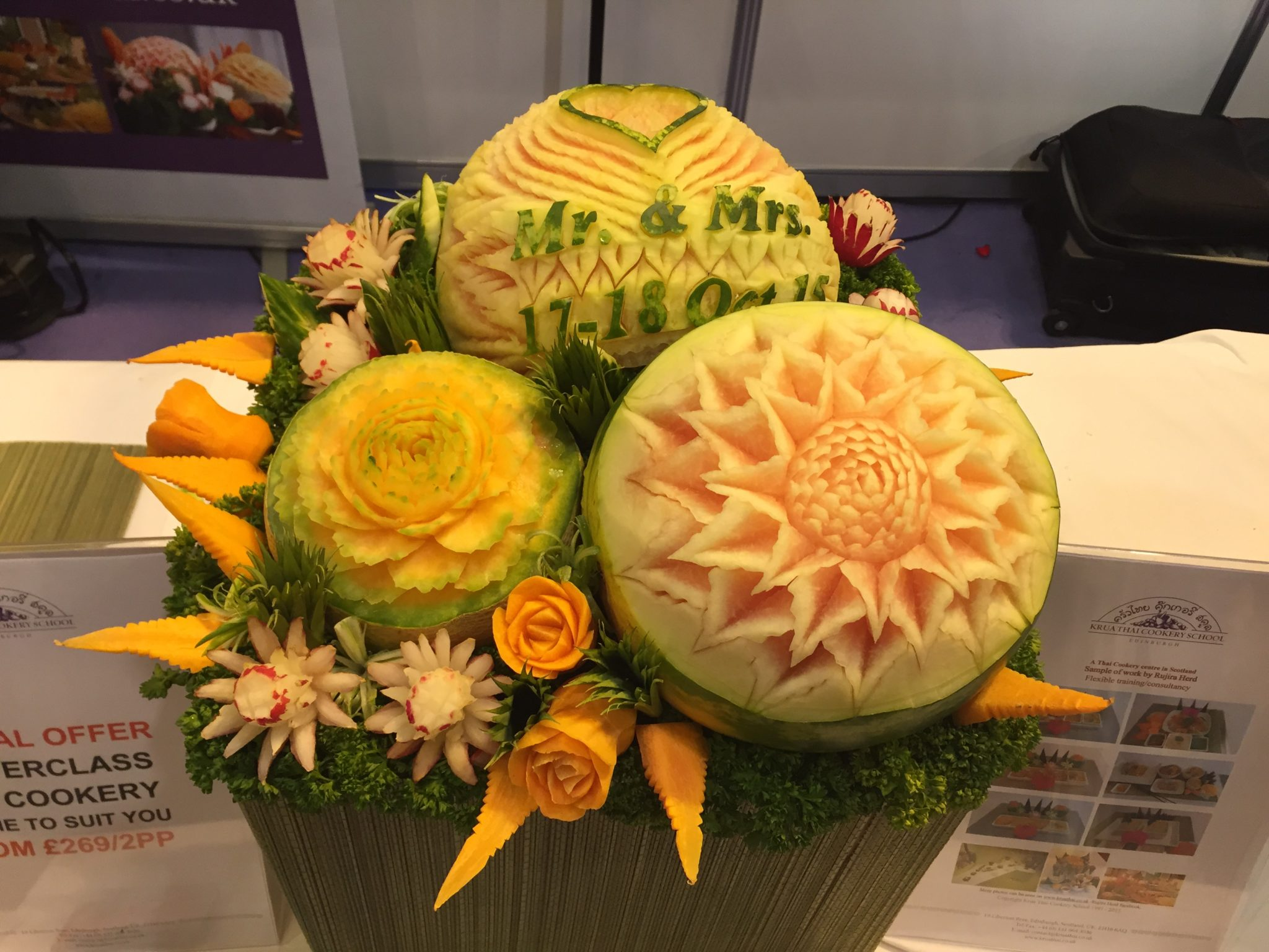 5. I Love Fruit personalised carving
