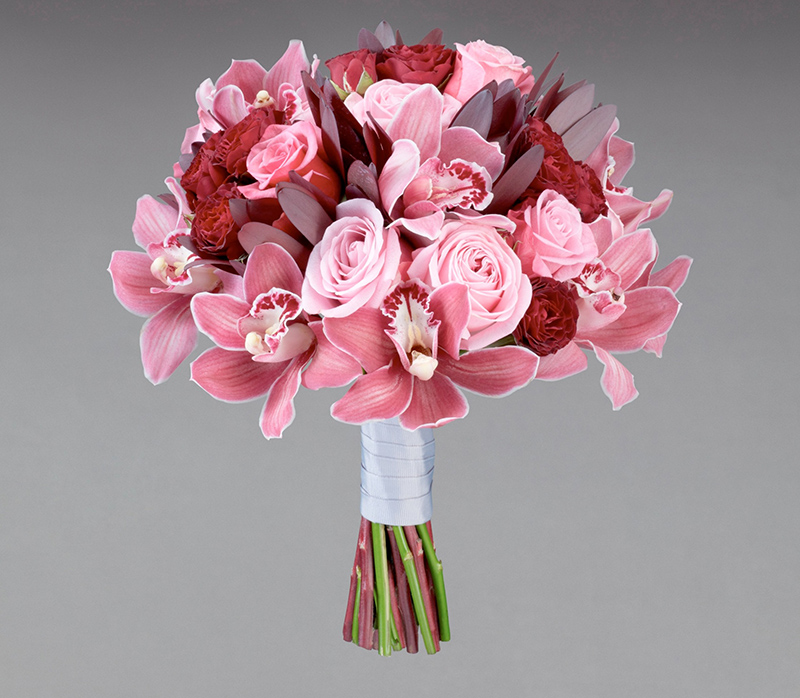 BARBIEMOOD4_Interflora Vera Wang Wedding Collection - Traditional - Rose and Cymbidium Bridal Bouquet