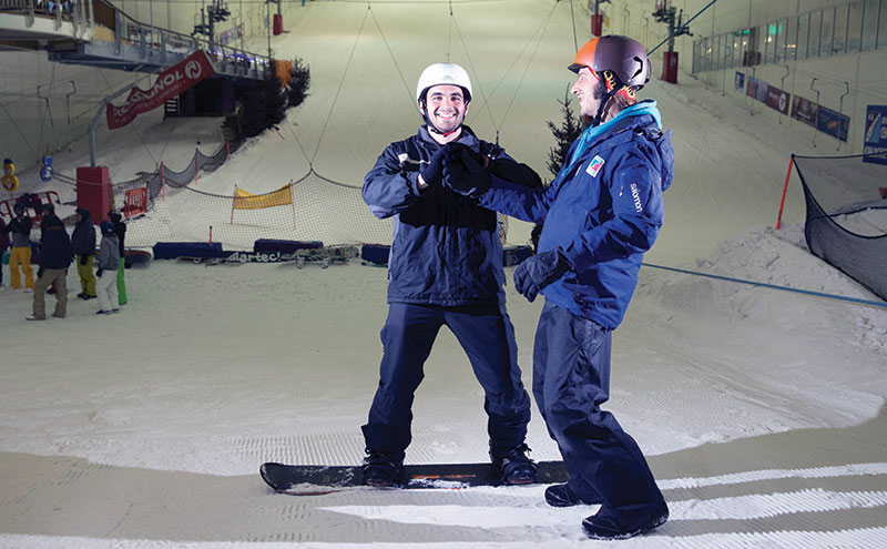 Thrills and spills on Snow Factor's artificial slopes