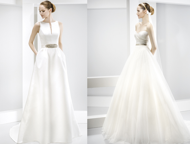 Two Jesús Peiró gowns that will be available to try