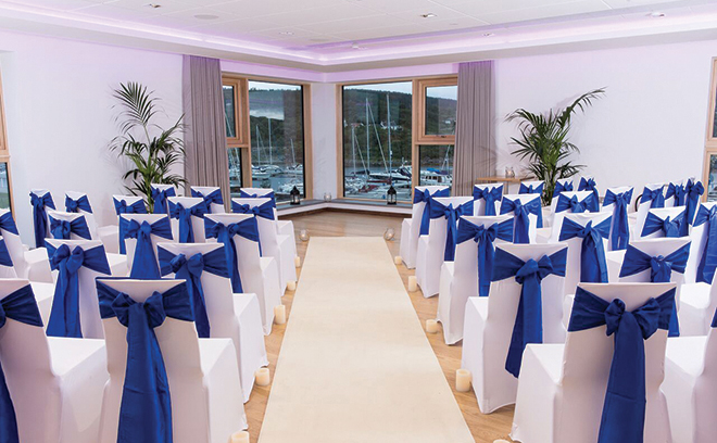 portavadie_Bulloch and Barclay Suites - Wedding set up