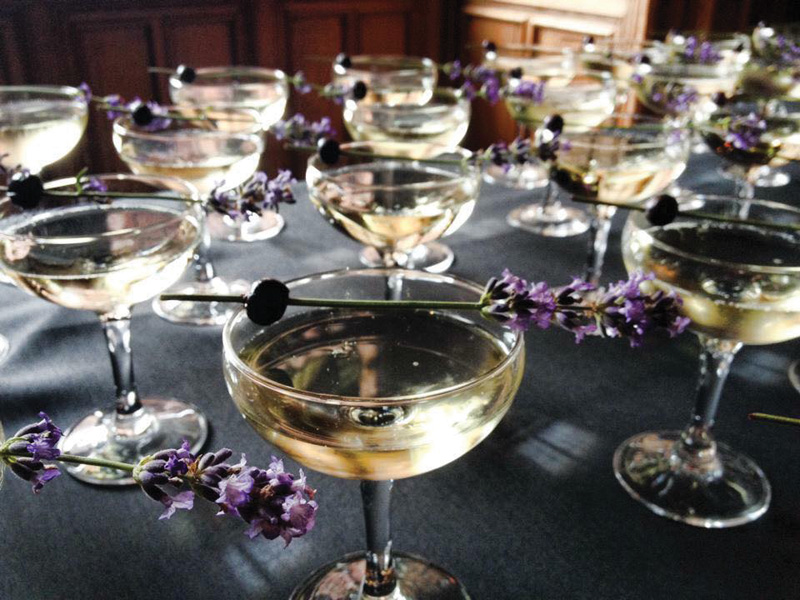 The addition of lavender and blueberry elevates a champagne toast, says Bespoke's Kelly Naylor