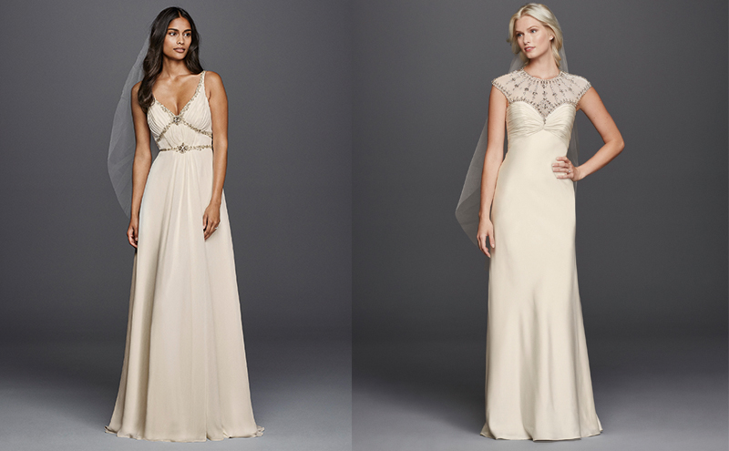 Style JP341612, £995, Wonder by Jenny Packham at David's Bridal , Style JP341609, £1195, Wonder by Jenny Packham at David's Bridal