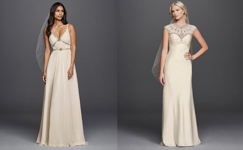 Style JP341612, £995, Wonder by Jenny Packham at David's Bridal , Style JP341609, £1195, Wonder by Jenny Packham at David's Bridal