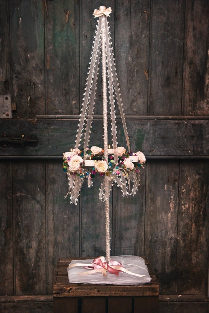 Get-Knotted.net Maypole Charmed Chandeliers £15 to hire (credit- www.borders-photographer.co.uk)