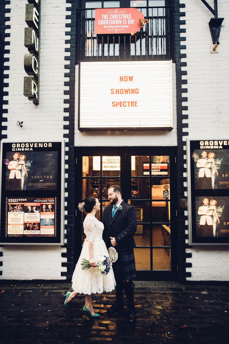 Newlywed Alison Atkinson and her hubby recently had a movie-themed big day in Glasgow