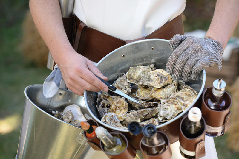 """Having an Oysterman is a great ice-breaker at weddings where not all guests know each other,"" says Laura McKinlay. ""An oyster bar is lovely but does not create the same level of interaction and conversation."""