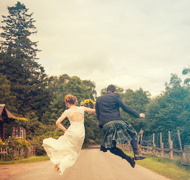 This delightfully lighthearted image by Aboyne Photographics is exactly the kind of thing worth practising on a pre-wedding shoot – for obvious reasons!