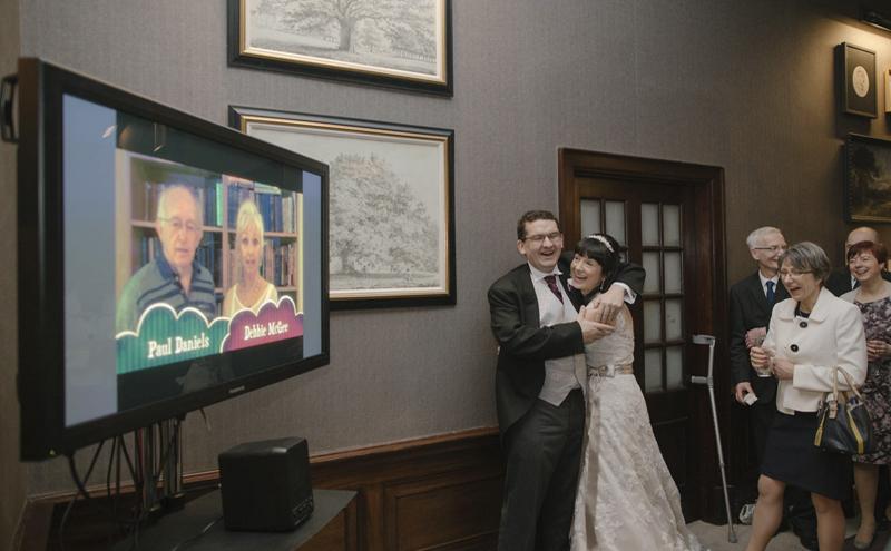 25e3eea2ffd2 Scottish groom shocks with star-studded wedding video