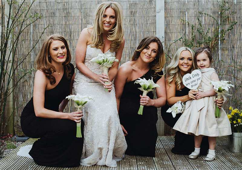 East Kilbride's Flower Design Studios worked classic calla lilies into timeless bouquets for this wedding