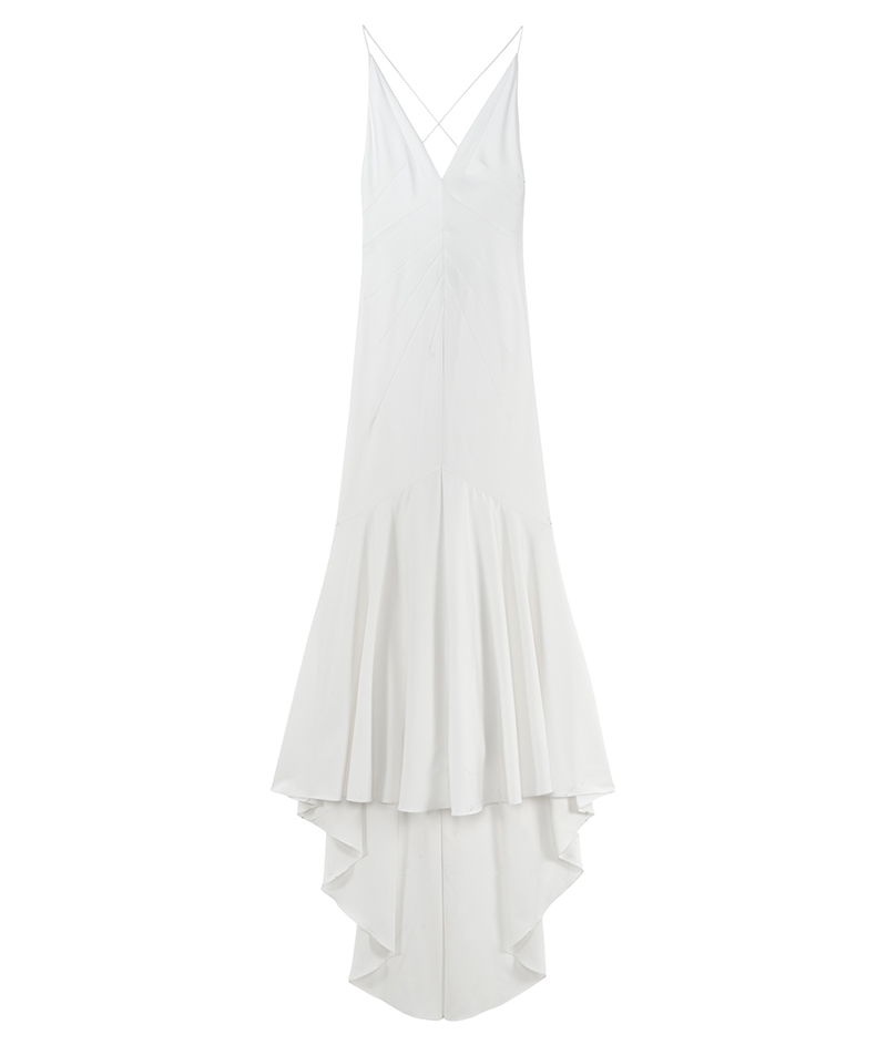 web_ASOS BRIDAL Deep Plunge Strappy Fishtail Maxi Dress ú95 1 March