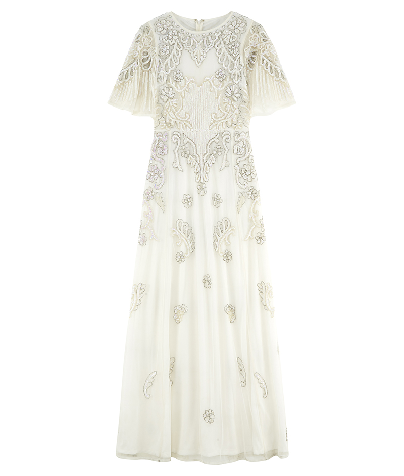 web_ASOS BRIDAL Iridescent Flutter Sleeve Maxi Dress ú150 8 March