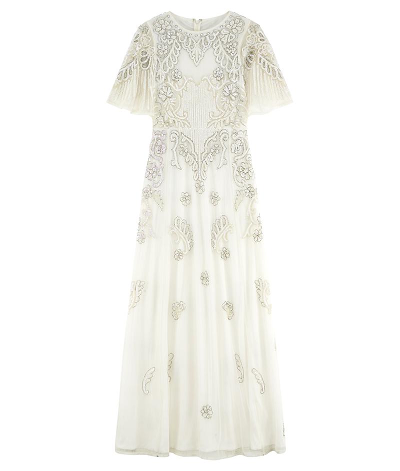 web_ASOS BRIDAL Iridescent Flutter Sleeve Maxi Dress ú150 8 March