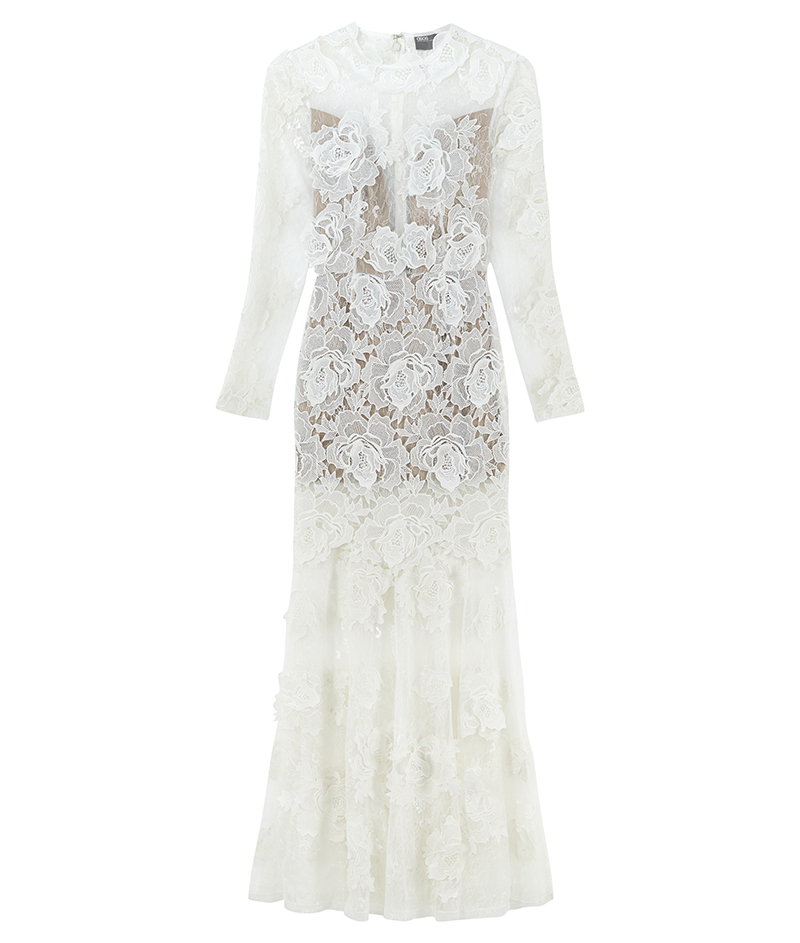 web_ASOS BRIDAL Lace 3D Floral Fishtail Maxi Dress ú250 22 March